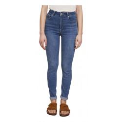 LAB DIP jeans woman light denim high waist with zip skinny art ELLIOT
