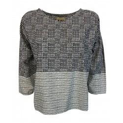 4.10 by BKØ woman shirt with white / black box DD20144 FANTASIA 100% cotton