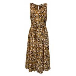 ETiCi abito donna senza manica fantasia miele/blu art A2/3670/06 100% cotone MADE IN ITALY