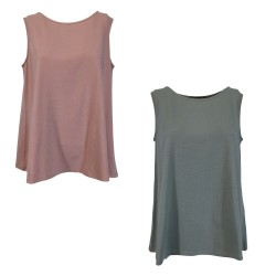 NEIRAMI flared woman tank top art B55JE-N / S1 96% cotton 4% elastane MADE IN ITALY