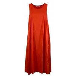 LIVIANA CONTI orange asymmetric woman over dress art L1SK22 MADE IN ITALY