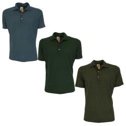 H953 light short-sleeved men's polo shirt HS3260 / P 50% cotton 50% modal MADE IN ITALY