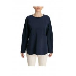 MEIMEIJ blue long sleeve blouse woman milan point mod MYB07 MADE IN ITALY