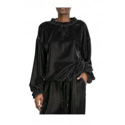 MEIMEIJ blouse woman gray velvet over mod M1YS02 MADE IN ITALY