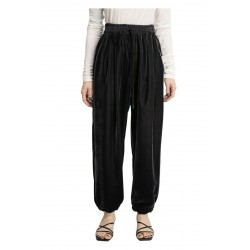 MEIMEIJ soft gray velvet woman trousers with art M1YS01 MADE IN ITALY