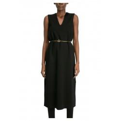 MEIMEIJ black dress milano stitch slip without belt M1YB06 MADE IN ITALY