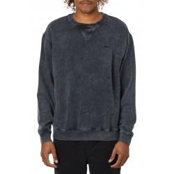 KATIN man crewneck sweatshirt black brushed vintage wash art FLCRE10 80% cotton 20% polyester