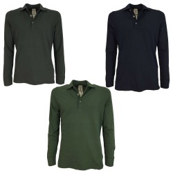 H953 man polo shirt long sleeve slim art HS3254 PORTOFINO MADE IN ITALY