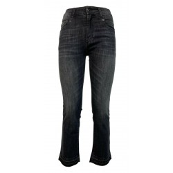 SEMICOUTURE jeans woman black washed skinny art Y1WY05 PAULINE 98% cotton 2% elastane MADE IN ITALY