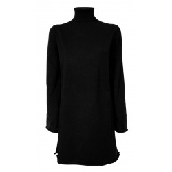 SEMICOUTURE black woman dress art S1WA06 DAMIENNE MADE IN ITALY