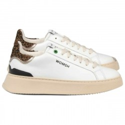 WOMSH women's sneakers SNIK SNOW LEO SN007 in calfskin MADE IN ITALY