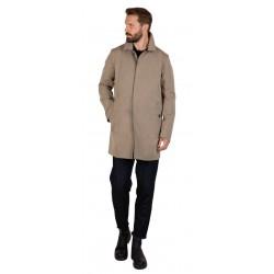 L'IMPERMEABILE short man coat beige cotton car coat BRANDO FR PEACH COT MADE IN ITALY