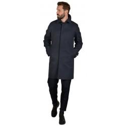L'IMPERMEABILE men's coat blue waterproof cotton car coat art MARTIN + I NEW GAB SO MADE IN ITALY