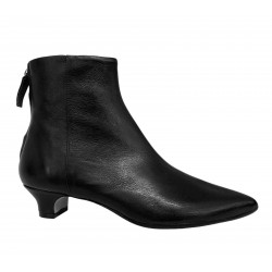 LA PETITE MAISON women's low boot black leather art 2247 MADE IN ITALY